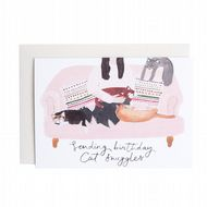 Hidden Pearl Studio 'Sending Birthday Cat Snuggles' Card